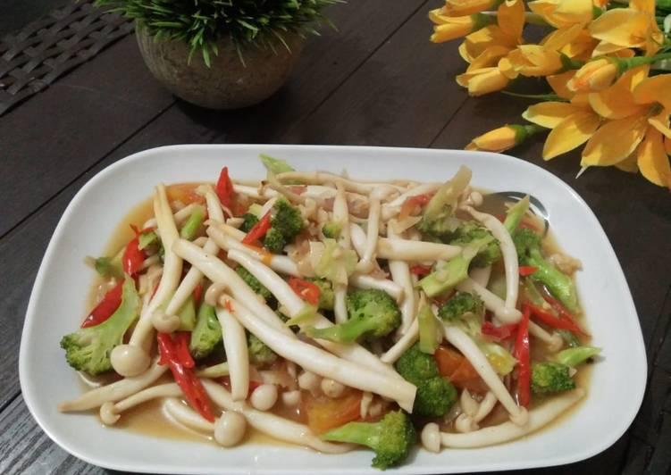 Resep Tumis Jamur Brokoli Saus Tiram Simple Dan Enak