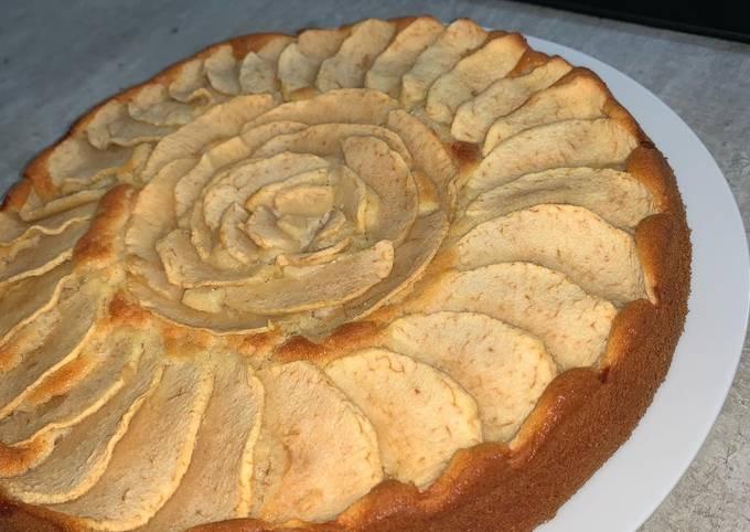 Gâteau aux pommes et frangipane