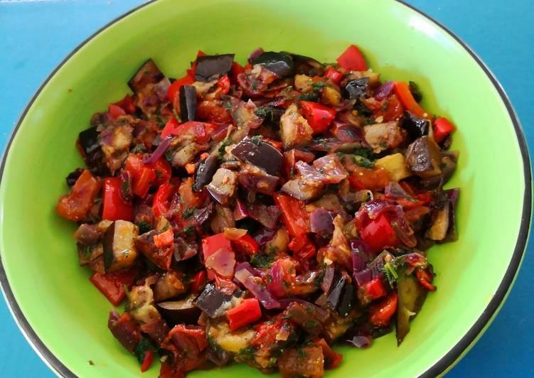 Recipe of Speedy Terong&Sayur ala Teresa 🇮🇩🍆🍅🌶Aubergine &Veges ala Teresa 😍