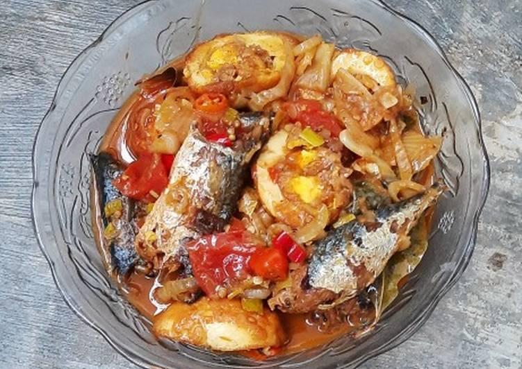 Ikan cue & telur bumbu sarden