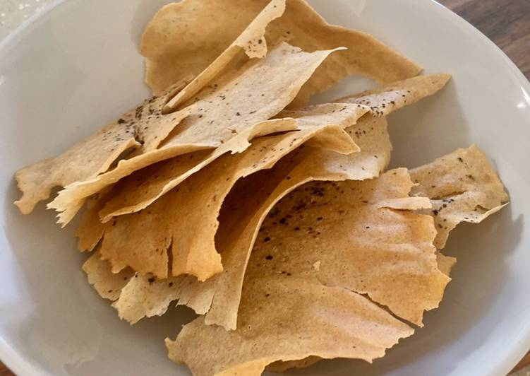 Crispy Wafer Thin Sourdough Crackers