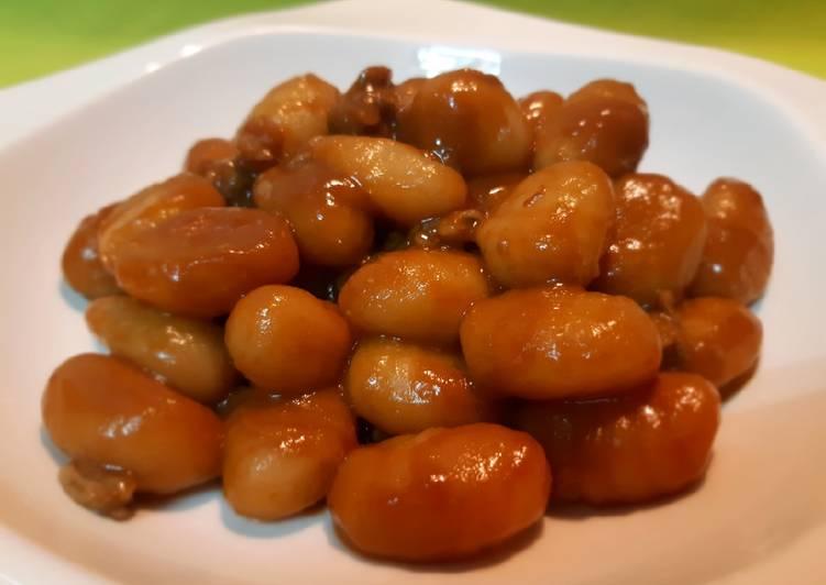 Gnocchi con berberechos y salsa americana