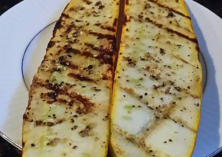 Simple Way to Make Award-winning Brad's grilled yellow zucchini
