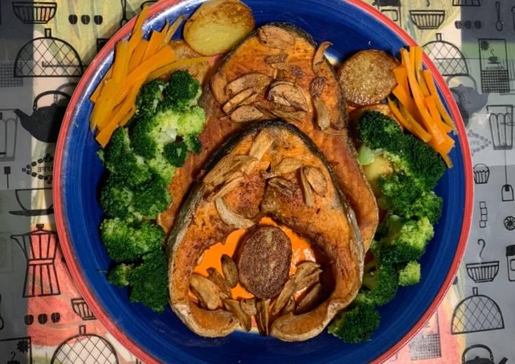 Salmon grill garlic