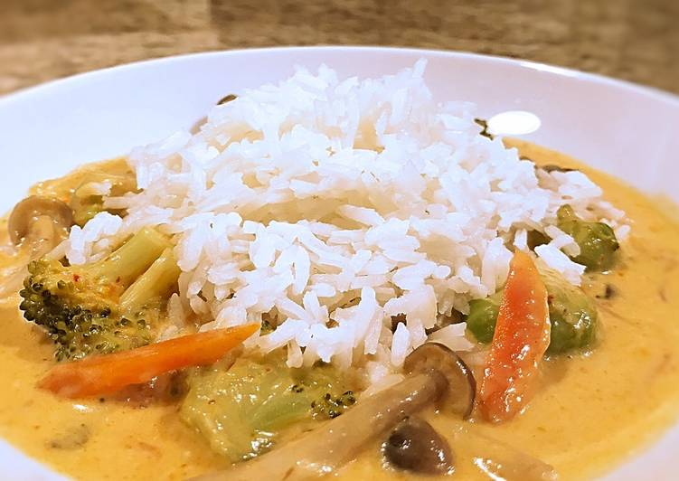 Spicy red curry   This is perfect for my spice palate but adjust as you need