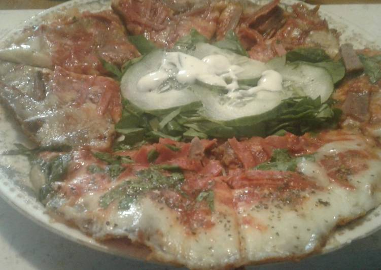 Recipe of Quick Low carb Keto skillet pizza