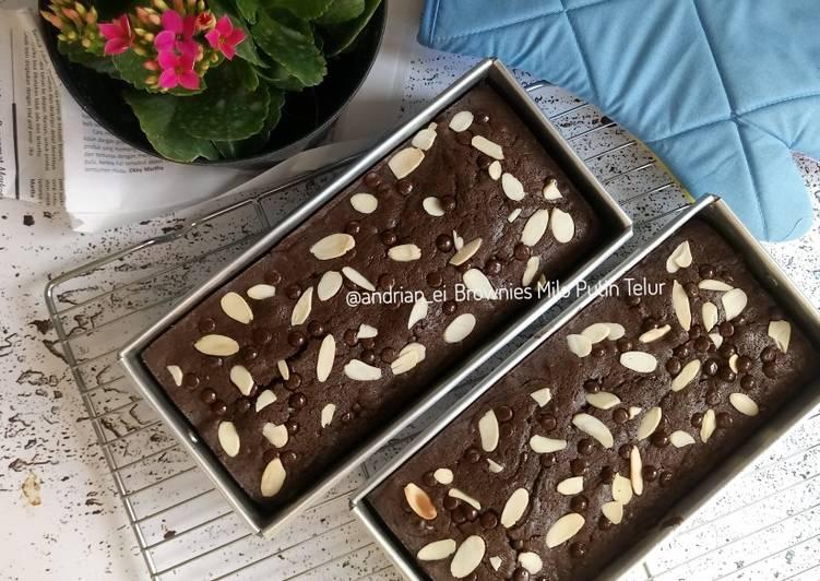 Brownies Milo (Putih Telur)