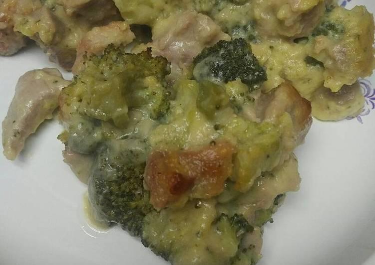 Pork Broccoli Parm Casserole