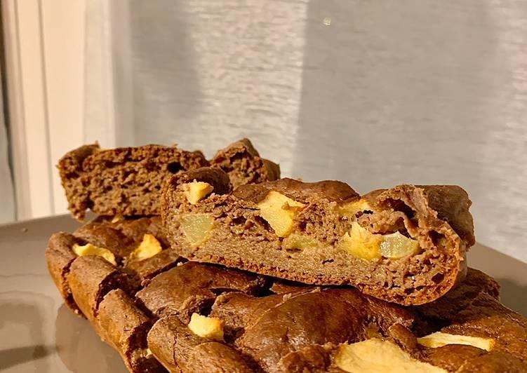 Le moyen le plus simple de Préparer Délicieux Gâteau Choco-Pomme