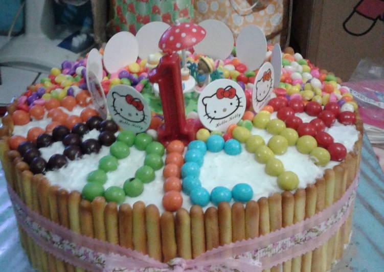 Resep Kue Tart Hello Kitty Oleh Arini Priyanti Eka Cookpad
