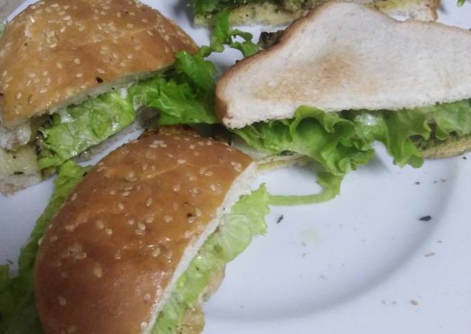 Tawa steak burger and sandwich