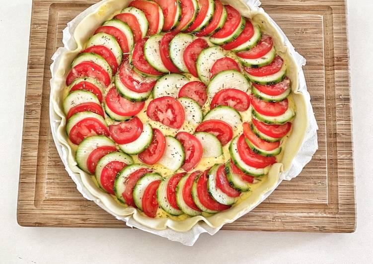 Tarte courgettes tomates légère