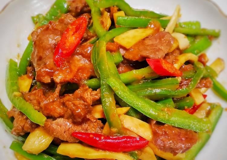 Paprika tumis daging sapi