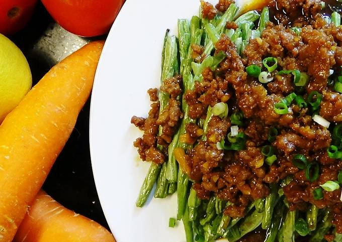 Chinese Style Green Beans With Ground Pork
