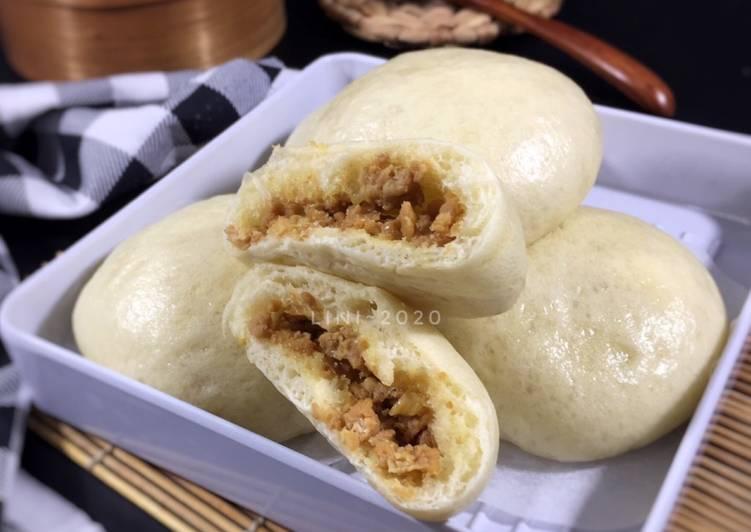Resep Bakpao isi daging ayam – bapao menul simple Paling dicari