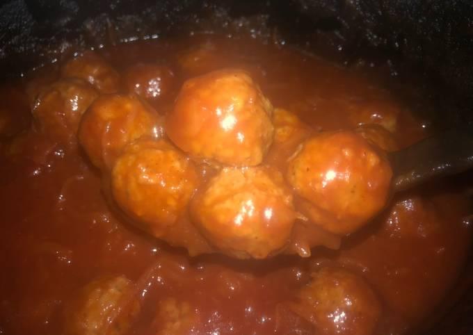 Crock pot meat balls