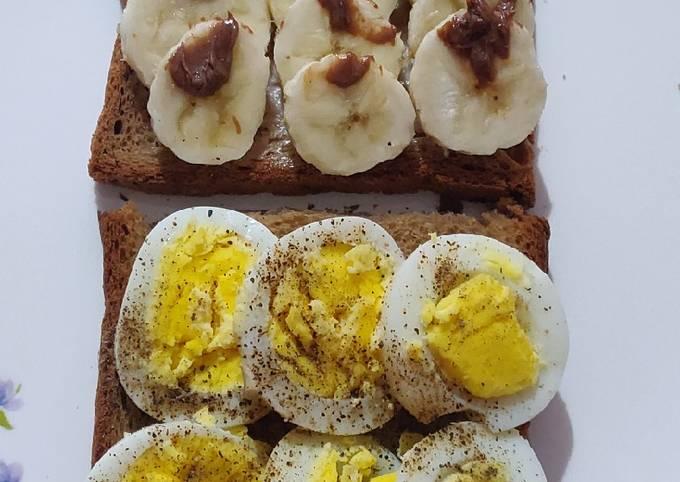 Egg and Banana Toast - Breakfast - Healthy