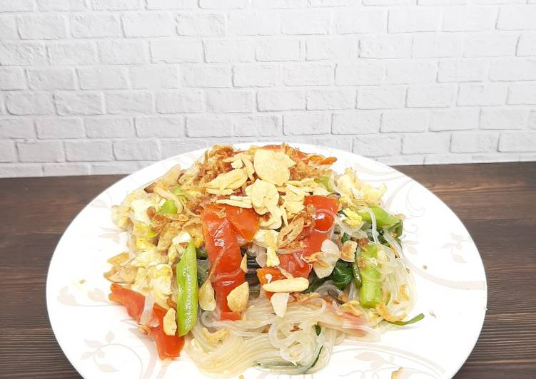 Tumis Bihun Jagung (+Sayur&Telur)
