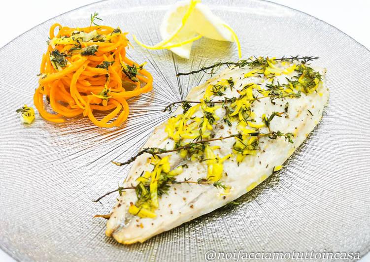 Ricetta Filetti di Sgombro al forno con Timo e Limone