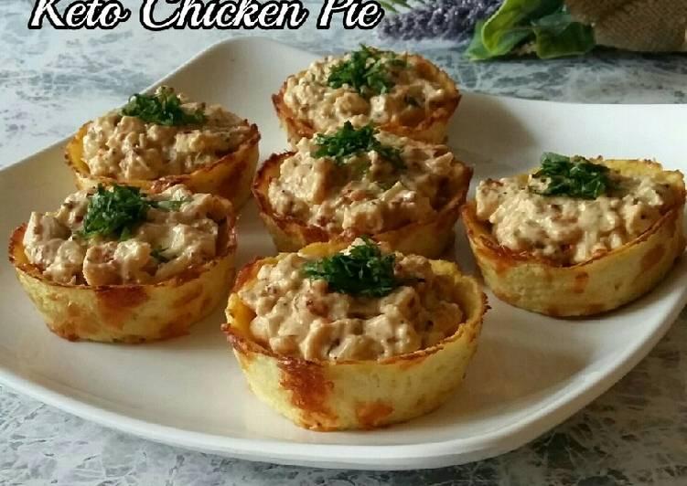 Cheesy Keto Chicken Pie #ReverseDiabetesObesity