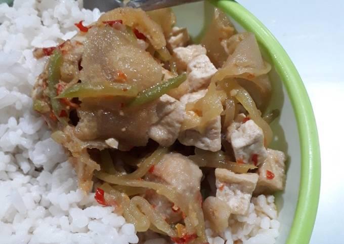 sambel goreng jipang (labu siam) tahu - resepenakbgt.com