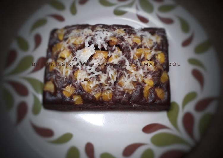 Brownies kukus pisang keju hemat endol
