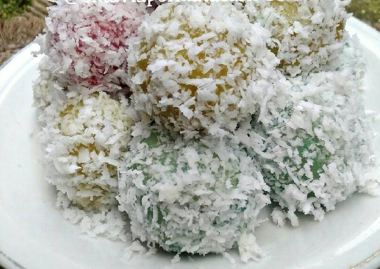 Klepon ubi rainbow