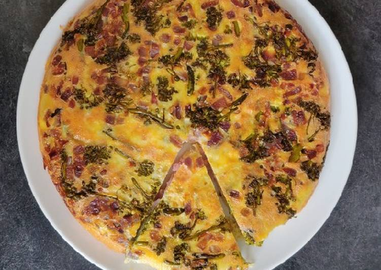 Keto ham & broccoli quiche