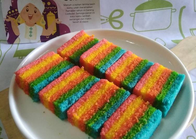 Rainbow Cake Kukus Ny.Liem