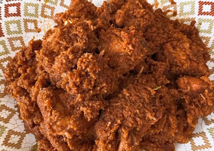 resep cara membuat Rendang Ayam Pedas