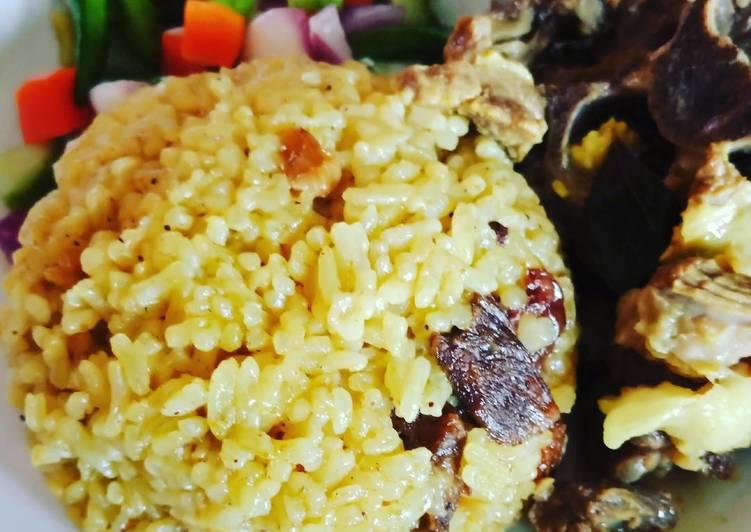 Nasi Minyak / Nasi Kebuli (masakan rumah sederhana)