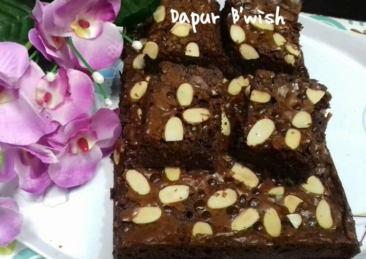 Fudgy brownies takaran sendok