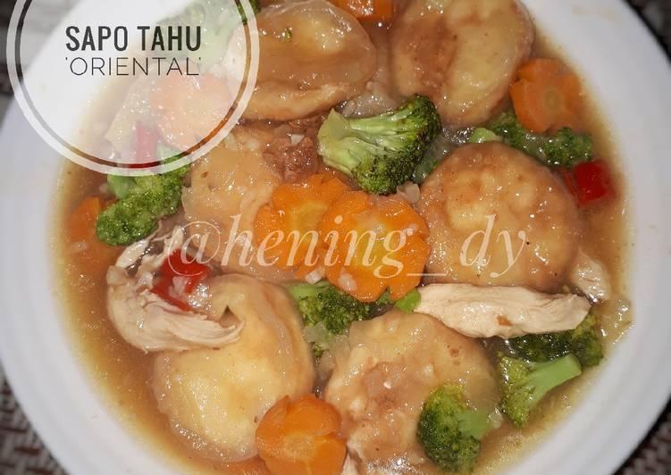 6 Cara Membuat Sapo Tahu Oriental Yang Mudah Cookandrecipe Com