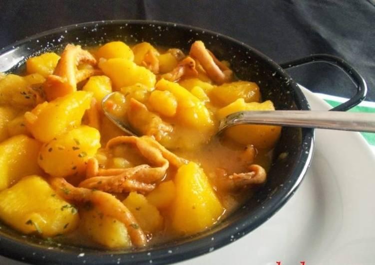 Calamares Con Patatas Receta De La Cocina Extremeña Cookpad