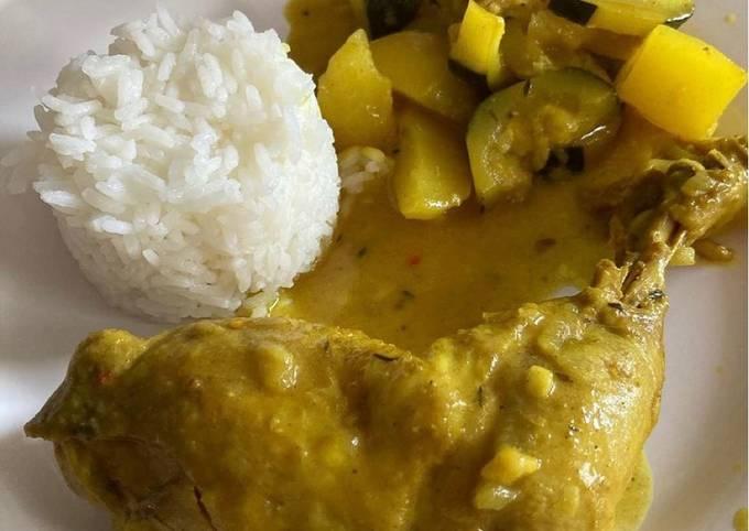Colombo de poulet riz et légumes