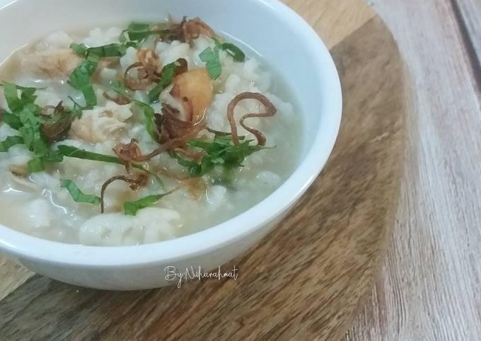 Bubur Nasi Ayam Telur Rebus