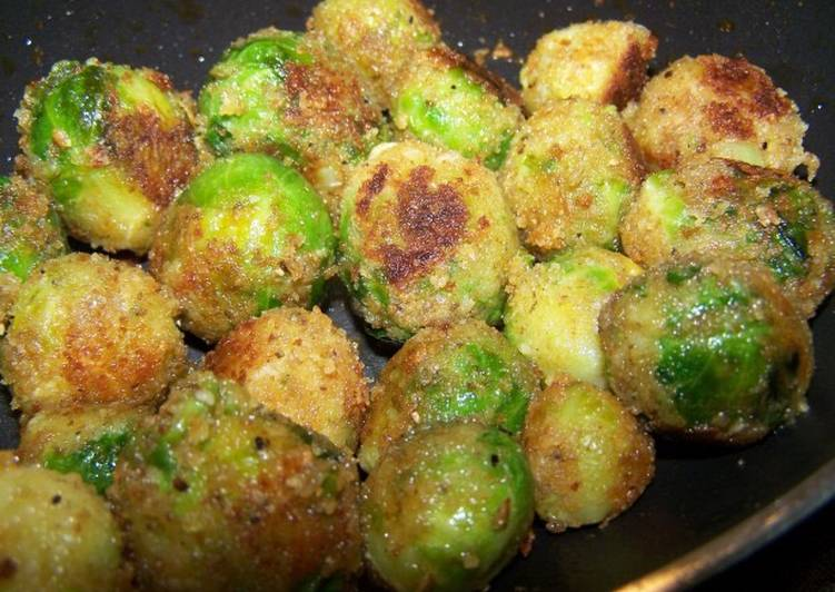 Simple Way to Make Top-Rated Cheesy Fried Brussels Sprouts