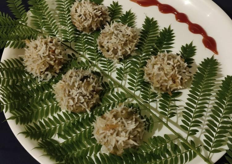 Veg flower dumplings