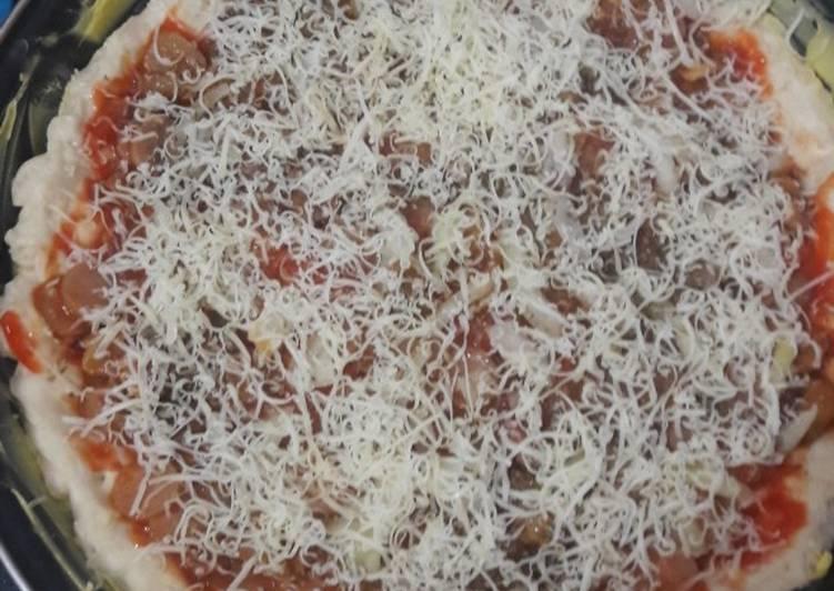 Pizza sosis dg uk sendok mkn