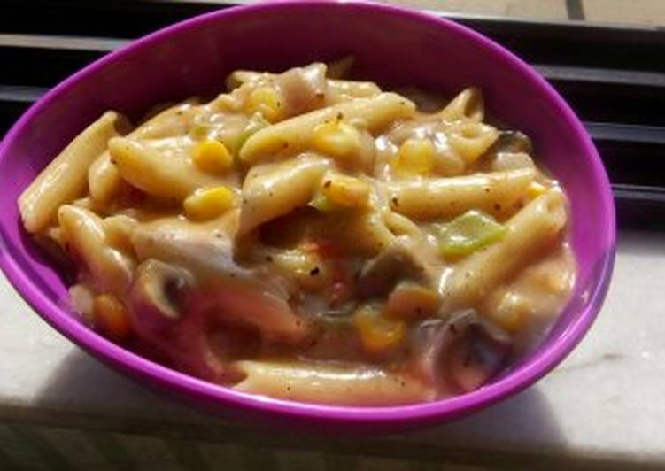 Easiest Way to Make Perfect White sauce pasta