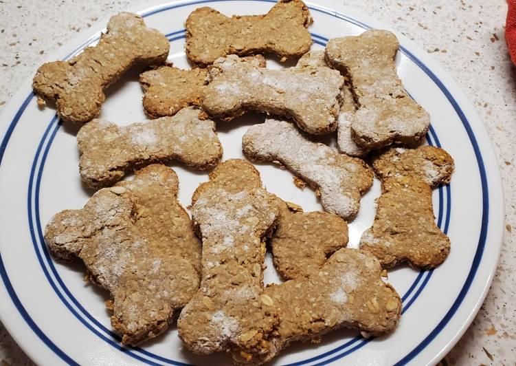 My Peanut Butter Oats and Banana Dog Treats