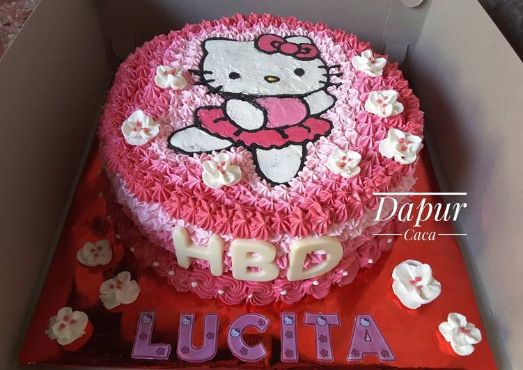 Resep Hello Kitty Cake Kue Tart Hello Kitty Oleh Ririz