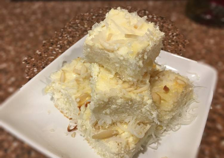 5 Minute Easiest Way to Make Homemade Coconut Almond Rice Noodle Kugel