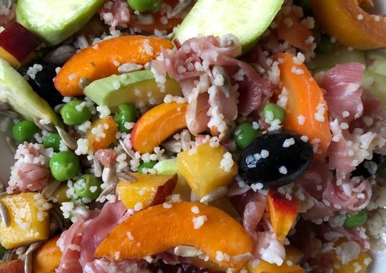 Peach, Peas and Ham Salad