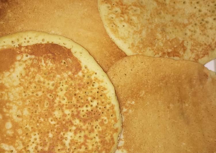 Coconut lemon zests pancakes