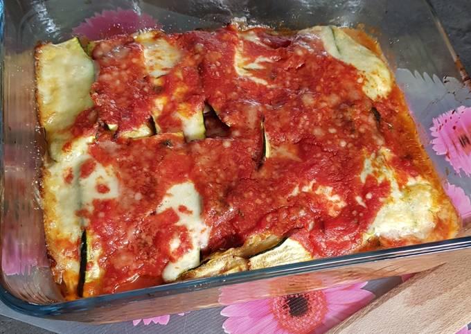 Gratin d'aubergines,courgettes, tomates, mozza façon lasagnes