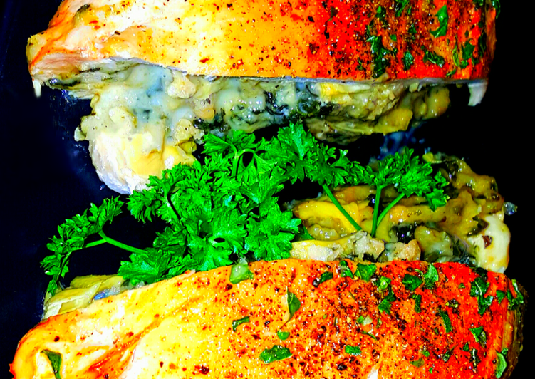 Recipe: Yummy Mike's Artichoke Spinach & Cheese Stuffed Chicken Breasts