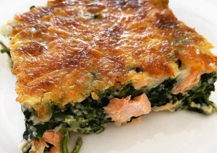 Recette: Quiche sans pâte aux épinard et au saumon