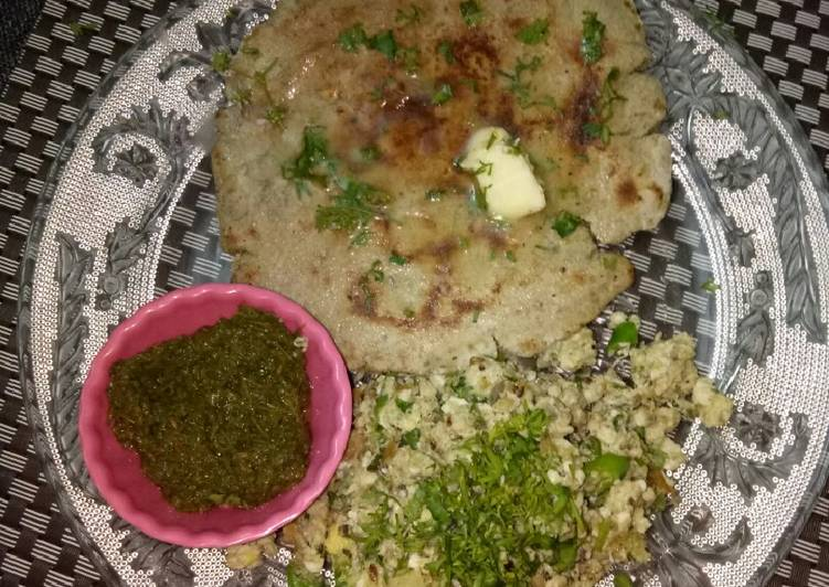 Your State Of Health Can Be Effected By The Foods You Decide To Eat Bajra roti with scrumbeld egg