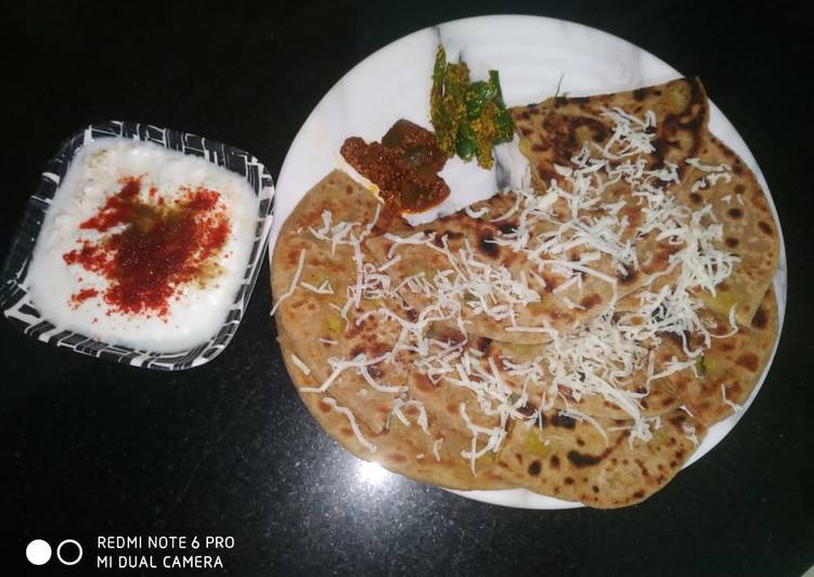Simple Way to Make Most Popular Raw Banana Paratha